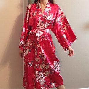 Vintage cherry blossom printed Kimono.